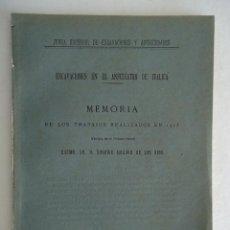 Libros antiguos: SEVILLA.'EXCAVACIONES EN EL ANFITEATRO DE ITALICA' 1915. RODRIGO AMADOR DE LOS RIOS. Lote 42791941