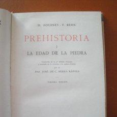 Libros antiguos: HOERNES, M. / BEHN. F. PREHISTORIA. I, LA EDAD DE LA PIEDRA. II, LA EDAD DEL BRONCE. III, LA EDAD DE. Lote 48031224
