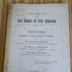 Libros antiguos: EXPLORACIÓN DE NUEVE DÓLMENES DEL ARALAR GUIPUZCOANO - 1919. Lote 48108083