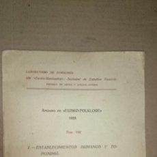 Libros antiguos: 1928 - ANUARIO DE LA SOCIEDAD DE EUSKO-FOLKLORE VIII - REFUGIOS DEL PAIS VASCO, ESTABLECIMIENTOS .... Lote 49588027