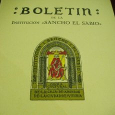 Libros antiguos: BOLETÍN DE LA INSTITUCIÓN SANCHO EL SABIO ARQUEOLOGÍA AÑO III- TOMO III-Nº 1-2---AÑO 1959. Lote 50292926
