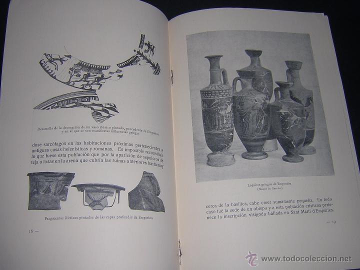 Libros antiguos: 1929 - BOSCH GIMPERA - EMPORION - IV CONGRESO INTERNACIONAL DE ARQUEOLOGÍA - Foto 2 - 80800919