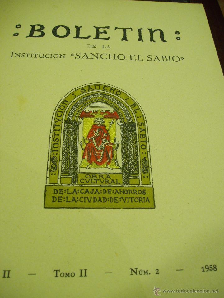 BOLETÍN DE LA INSTITUCIÓN SANCHO EL SABIO AÑO II TOMOII NÚM. 1 1958 (Libros Antiguos, Raros y Curiosos - Ciencias, Manuales y Oficios - Arqueología)