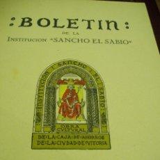 Libros antiguos: BOLETÍN DE LA INSTITUCIÓN SANCHO EL SABIO AÑO II TOMOII NÚM. 1 1958. Lote 50293163