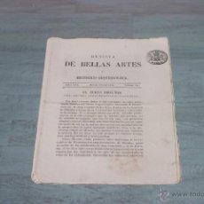 Libros antiguos: REVISTA DE BELLAS ARTES É HISTÓRICO-ARQUEOLÓGICA Nº 71. 1868. Lote 50404576