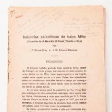 Libros antiguos: INDUSTRIAS PALEOLÍTICAS DO BAIXO MIÑO. BOUZA BREY - ÁLVAREZ BLAZQUEZ. GALICIA. Lote 50606209