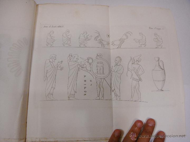 Libros antiguos: Annali dellInstituto di Corrispondenza Archeologica. 1863. Con laminas explicatorias. - Foto 9 - 51557392