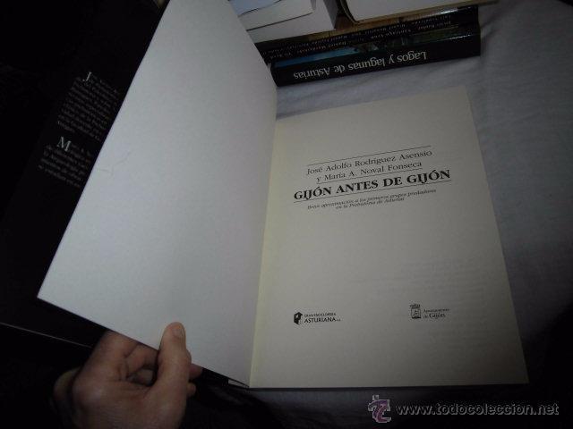 Libros antiguos: GIJON ANTES DE GIJON BREVE APROXIMACION A LOS PRIMEROS GRUPOS DE PREDADORES.J.ADOLFO RODRIGUEZ,M.NOV - Foto 7 - 52839898