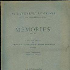 Libros antiguos: NUMULITE L0251 MEMÒRIES J. PUIG I CADAFALCH INSTITUT D'ESTUDIS CATALANS VOL. III ROMÀNIC CATALÀ 1930. Lote 53659562