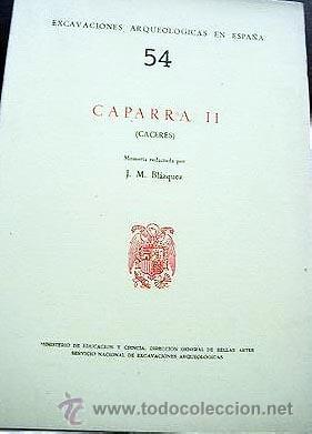 Libros antiguos: Blázquez, J. M. : Caparra II. (Cáceres) Excavaciones, Láminas fotográficas. Arqueología - Foto 2 - 54587311