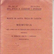 Libros antiguos: MONTE DE SANTA TECLA EN GALICIA - 1924. Lote 56907234