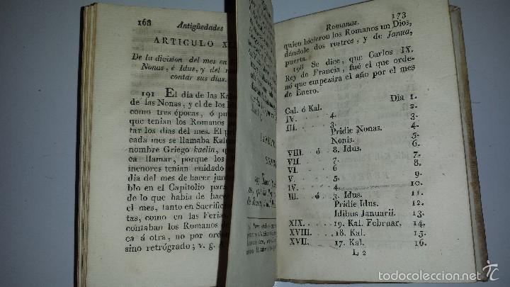Libros antiguos: COMPENDIO DE LAS ANTIGUEDADES ROMANAS 1771 - Foto 5 - 60190319