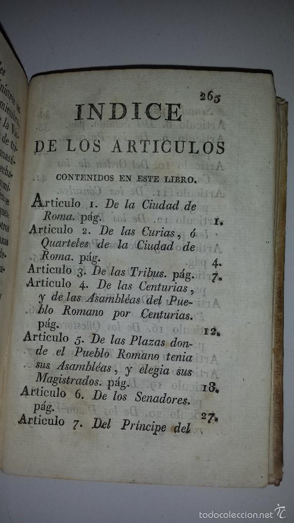 Libros antiguos: COMPENDIO DE LAS ANTIGUEDADES ROMANAS 1771 - Foto 6 - 60190319