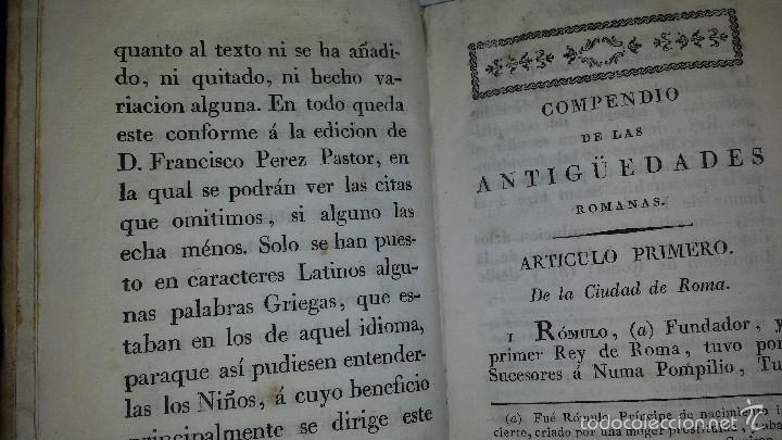 Libros antiguos: COMPENDIO DE LAS ANTIGUEDADES ROMANAS 1771 - Foto 7 - 60190319