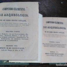 Libros antiguos: COMPENDIO DE ARQUEOLOGÍA I Y II - SEBASTIÁN CASTELLANOS (EDICIÓN DE 1884). Lote 61839104