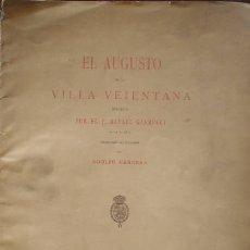 Libros antiguos: GARRUCCI, RAFAEL: EL AUGUSTO DE LA VILLA VEIENTANA. TRAD. DEL ITALIANO POR ADOLFO HERRERA. 1884. Lote 63127376