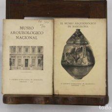 Libros antiguos: 5087- MUSEO ARQUEOLOGICO DE BARCELONA Y NACIONAL. 2 EJEMPLARES. 1929. TIP. EMPORIUM.. Lote 45077947