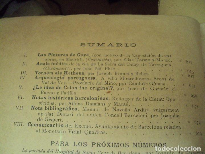 Libros antiguos: lote de 2 revistas de la asociacion artistico-arqueologica barcelonesa de 1898 y 1900 - Foto 4 - 71640159