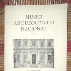 Libros antiguos: MUSEO ARQUEOLÓGICO NACIONAL 1929 IV CONGRESO INTERNACIONAL ARQUEOLOGÍA BARCELONA PREHISTORIA IMPECA. Lote 75567879