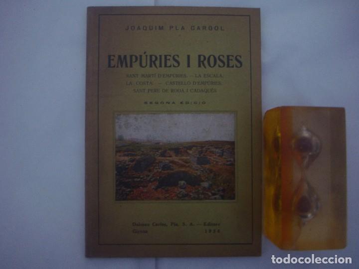 Libros antiguos: RARO EJEMPLAR DEDICADO POR JOSE PLA CARGOL.EMPÚRIES I ROSES.1934. MUY ILUSTRADO - Foto 2 - 77535757