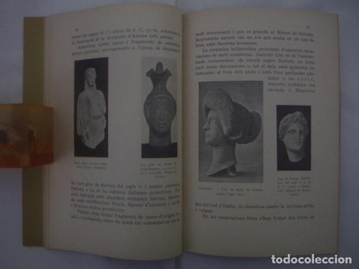 Libros antiguos: RARO EJEMPLAR DEDICADO POR JOSE PLA CARGOL.EMPÚRIES I ROSES.1934. MUY ILUSTRADO - Foto 3 - 77535757