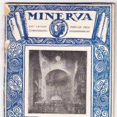 Libros antiguos: MINERVA VOL XI - RESUM D'ARQUEOLOGIA CRISTIANA - JOSEP GUDIOL - 1916. Lote 78389473