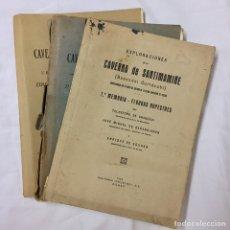 Libros antiguos: EXPLORACIONES CAVERNA SANTIMAMIÑE 3 MEMORIAS 1925 1931 1935 ARANZADI BARANDIARAN EGUREN VIZCAYA. Lote 79745118