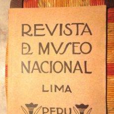 Libros antiguos: REVISTA DEL MUSEO NACIONAL LIMA PERÚ 1934 LUIS E VALCARCEL QUECHUA ARQUEOLOGIA PARACAS CUZCO. Lote 85067668