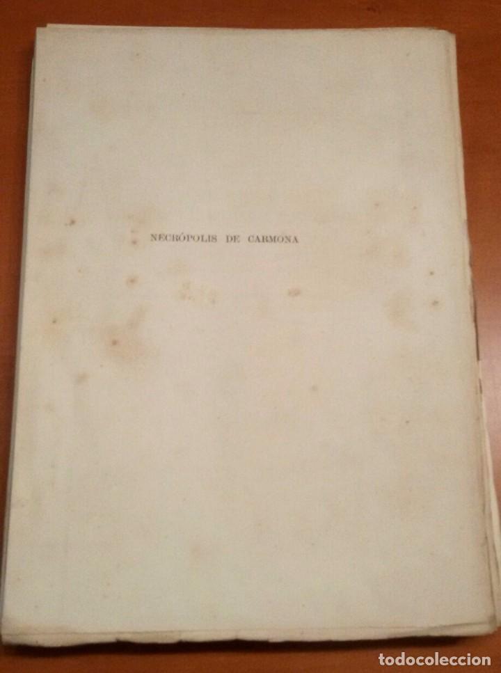 Libros antiguos: NECRÓPOLIS DE CARMONA. MEMORIA (J.D. DE LA RADA Y DELGADO 1885) EN RAMA, SIN USAR. - Foto 2 - 86303544