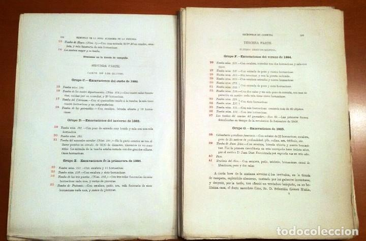 Libros antiguos: NECRÓPOLIS DE CARMONA. MEMORIA (J.D. DE LA RADA Y DELGADO 1885) EN RAMA, SIN USAR. - Foto 3 - 86303544