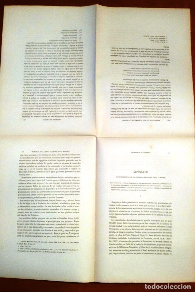 Libros antiguos: NECRÓPOLIS DE CARMONA. MEMORIA (J.D. DE LA RADA Y DELGADO 1885) EN RAMA, SIN USAR. - Foto 4 - 86303544