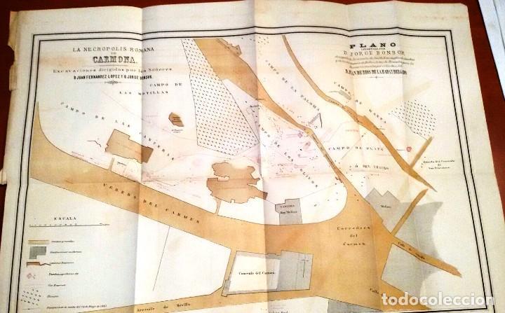 Libros antiguos: NECRÓPOLIS DE CARMONA. MEMORIA (J.D. DE LA RADA Y DELGADO 1885) EN RAMA, SIN USAR. - Foto 5 - 86303544