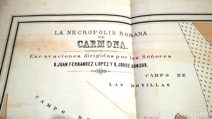 Libros antiguos: NECRÓPOLIS DE CARMONA. MEMORIA (J.D. DE LA RADA Y DELGADO 1885) EN RAMA, SIN USAR. - Foto 6 - 86303544
