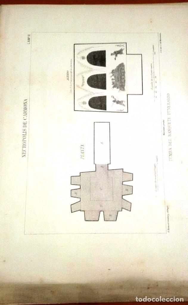 Libros antiguos: NECRÓPOLIS DE CARMONA. MEMORIA (J.D. DE LA RADA Y DELGADO 1885) EN RAMA, SIN USAR. - Foto 8 - 86303544