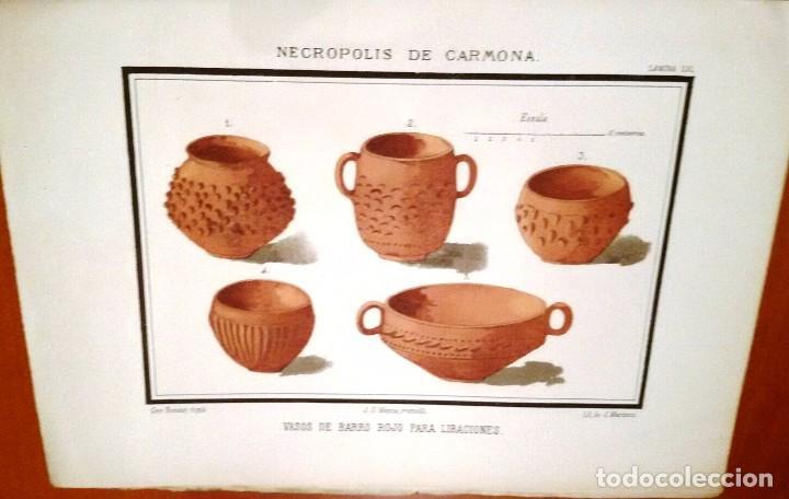 Libros antiguos: NECRÓPOLIS DE CARMONA. MEMORIA (J.D. DE LA RADA Y DELGADO 1885) EN RAMA, SIN USAR. - Foto 11 - 86303544