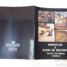 Libros antiguos: LIBRO HOMENAJE A DARIO REGOYOS, MARBELLA, . Lote 92923745