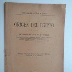 Libros antiguos: ORIGEN DEL EGIPTO. RECUERDO DE UN VIAJE A EGIPTO .-687. Lote 93645495