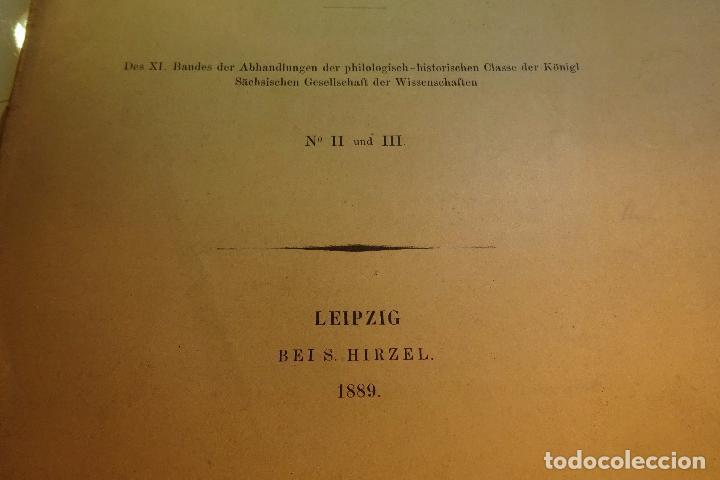 Libros antiguos: PAPYRUS EBERS -DIE MAASSE UND DAS KAPITEL ÚBER DIE AUGENKRANKHEITEN-GEORG EBERS-NºII UND III-1889- - Foto 3 - 94438098