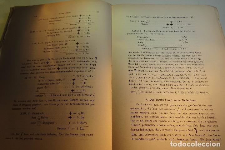 Libros antiguos: PAPYRUS EBERS -DIE MAASSE UND DAS KAPITEL ÚBER DIE AUGENKRANKHEITEN-GEORG EBERS-NºII UND III-1889- - Foto 7 - 94438098