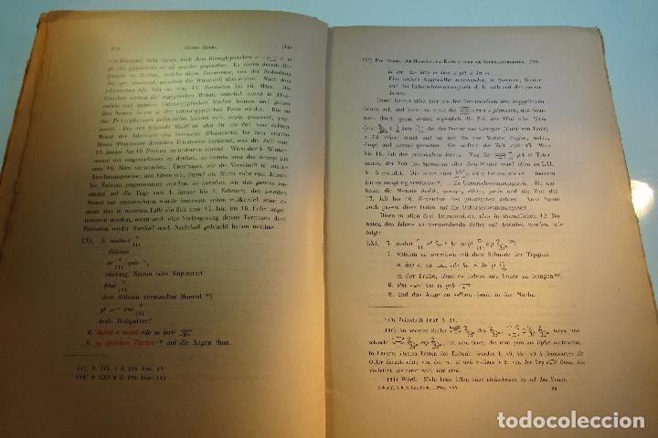 Libros antiguos: PAPYRUS EBERS -DIE MAASSE UND DAS KAPITEL ÚBER DIE AUGENKRANKHEITEN-GEORG EBERS-NºII UND III-1889- - Foto 10 - 94438098