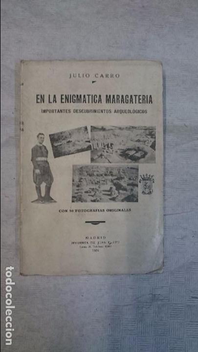 JULIO CARRO: EN LA ENIGMÁTICA MARAGATERIA (1934) (Libros Antiguos, Raros y Curiosos - Ciencias, Manuales y Oficios - Arqueología)