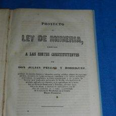 Libros antiguos: (MF) MINERALOGIA - PROYECTO DE LEY DE MINERIA PRESENTADO A LAS CORTES CONSTITUYENTES 1853. Lote 97388507