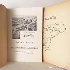 Libros antiguos: SAGUNTO. SUS MONUMENTOS Y LAS EXCAVACIONES DE LA ACRÓPOLI 40 GRABADOS, MAPA. Lote 97540275