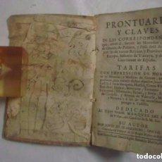 Libros antiguos: LIBRERIA GHOTICA. PRONTUARIO, Y CLAVES DE LAS CORRESPONDENCIAS, MONEDAS Y MEDIDAS DE CASTILLA. 1757. Lote 97669567