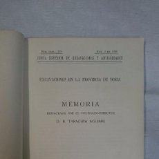 Libros antiguos: D. B. TARACENA AGUIRRE: EXCAVACIONES EN PROVINCIA DE SORIA (1932). Lote 97817519