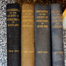 Libros antiguos: PROCEEDINGS OF THE SOCIETY OF ANTIQUARIES OF SCOTLAND 1914 1915 1922 1923 1924 1927 1928 NEILL CO. Lote 100505283