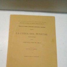 Libros antiguos: CONDE DE LA VEGA DEL SELLA: LA CUEVA DEL PENICIAL (ASTURIAS) (1914). Lote 104359647