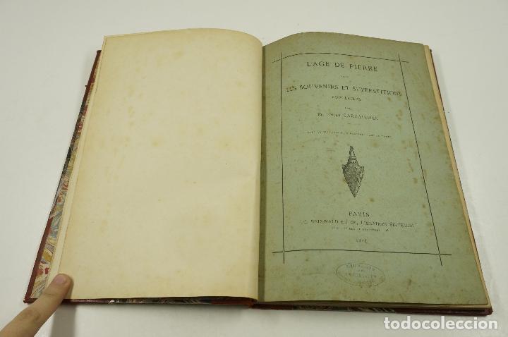 Libros antiguos: lage de pierre dans les souvenirs et superstitions populaires, E.Cartailhac, 1878, Paris. 18,5x27cm - Foto 6 - 193669847
