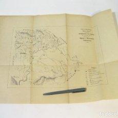 Libros antiguos: RESTOS Y PLANO DEL LIBRO SEVILLA PREHISTÓRICA. CARLOS CAÑAL. Lote 104619899