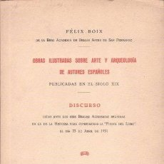 Libros antiguos: OBRAS ILUSTRADAS SOBRE ARTE Y ARQUEOLOGIA DE AUTORES ESPAÑOLES PUBLICADAS SIGLO XIX - FELIX BOIX. Lote 109895907